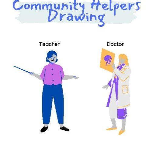 Community Helpers Drawing
