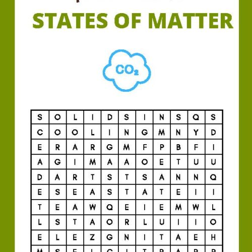 What is the State of Matter? Find-a-word Worksheet