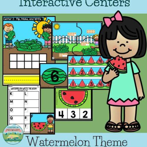 Number Sense 1-20 l Interactive Centers l Watermelon Theme