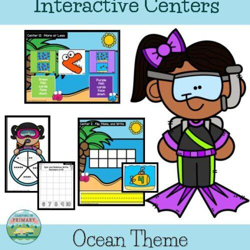 Number Sense 1-20 l Interactive Centers l Ocean Theme
