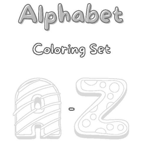 Alphabet Coloring Set