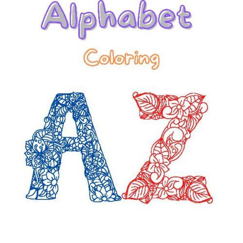Coloring Set floral Alphabet