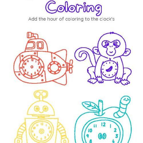 Clock Coloring Set