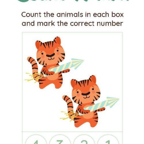 Count & Mark Numbers Christmas Worksheet Set
