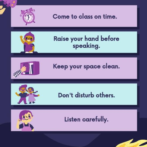 Space Race Classroom Rules Poster