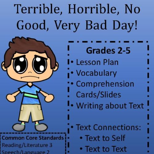 Alexander and the Terrible, Horrible, No Good, Very Bad Day Book Unit