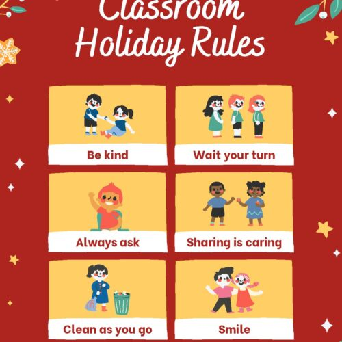 Holiday Classroom Rules Poster