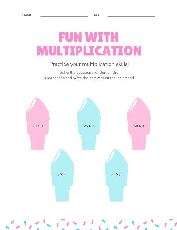 Two-Digit Multiplication Ice Creme's featured image