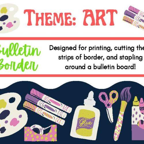Bulletin Board Decor Border Artcraft Theme