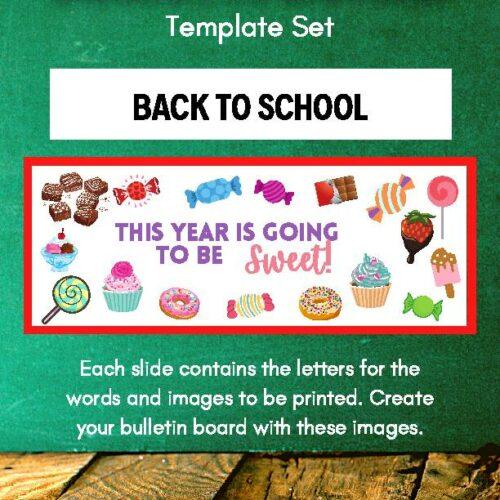 Candy Bulletin Board Template Set
