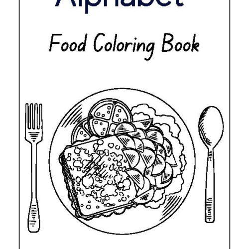 Food Alphabet Coloring Book