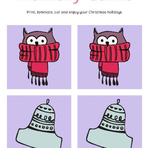 Memory Game Christmas Worksheet Set