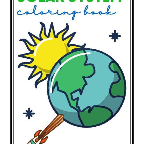 Planets Science Solar System Coloring Book