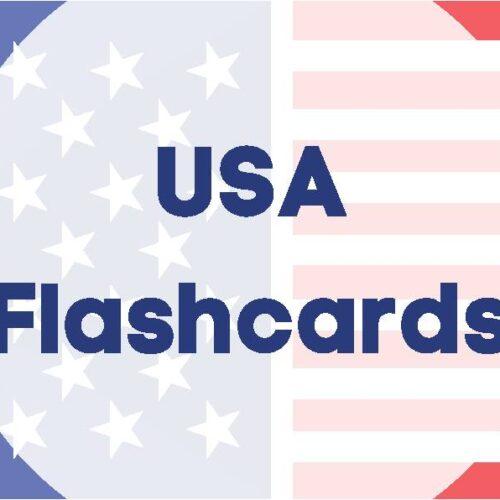 USA Alphabet Flashcards
