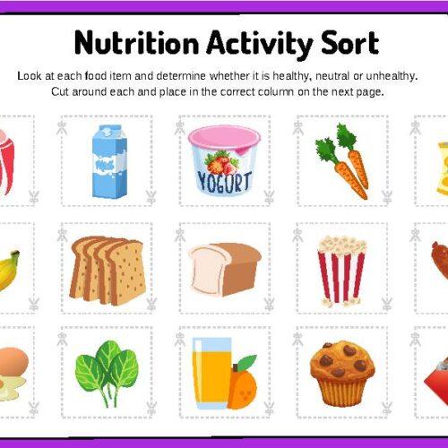 Nutrition Activity Sort