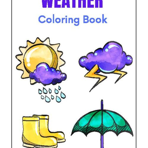 Science Weather Coloring Book