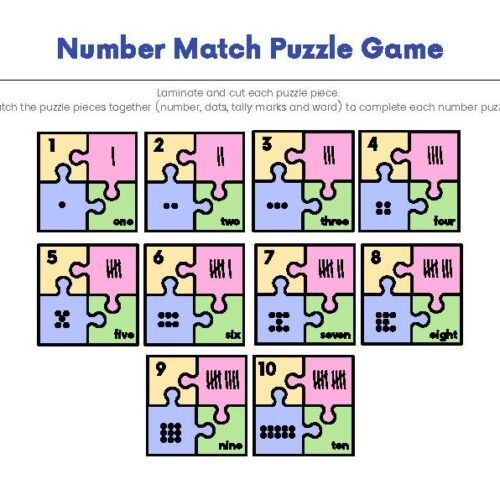 Number Match Mathematics Puzzle Game