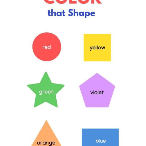 Counting and Color Worksheet