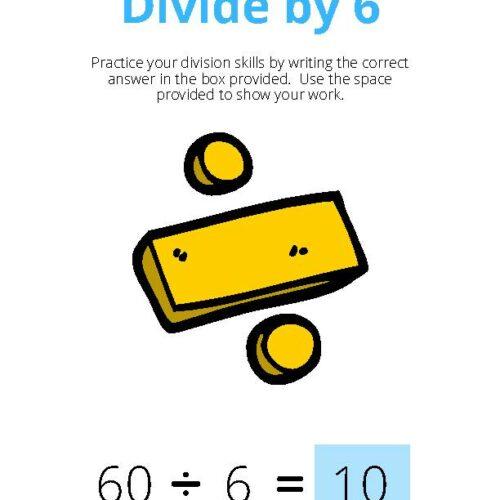 Divide by 6 Math Worksheet