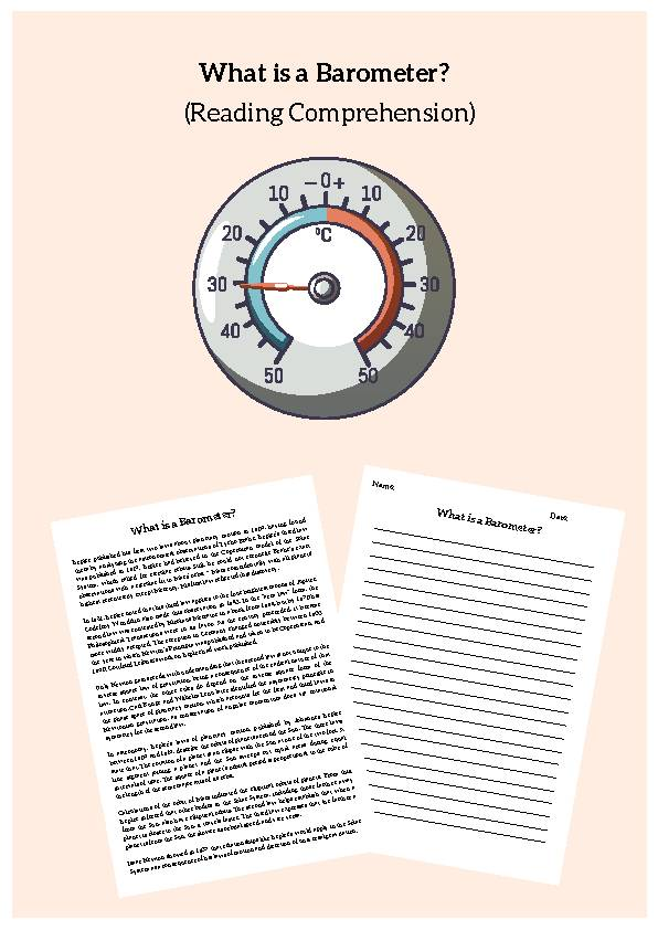Barometer, Reading Passage