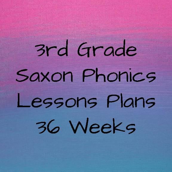 3rd Grade Saxon Lesson Plans