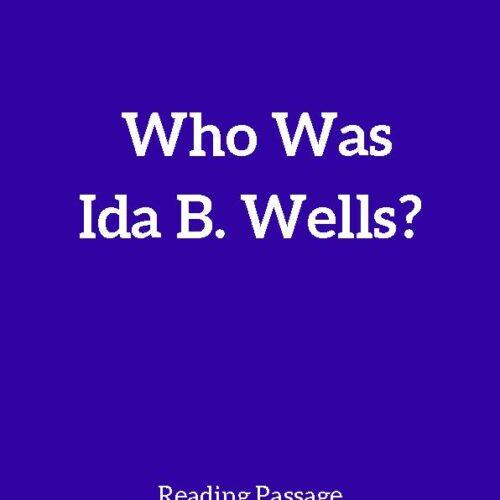 Ida B. Wells, Reading Passage