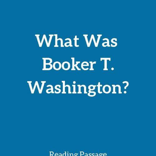 Booker T. Washington, Reading Passage