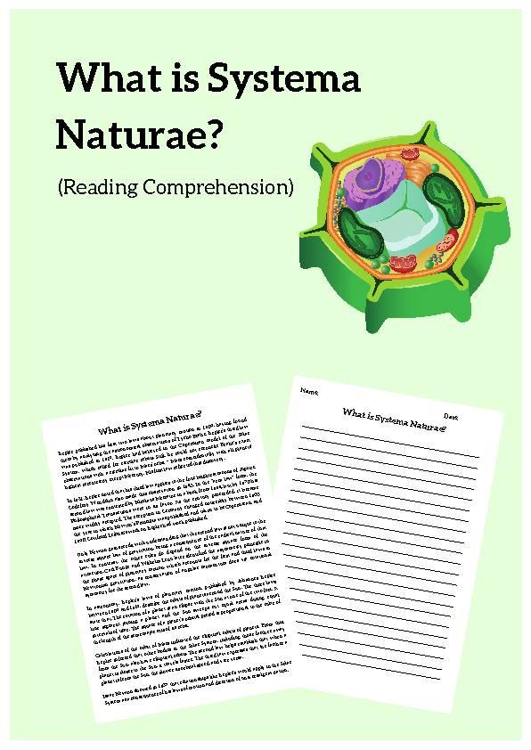 Systema Naturae, Reading Passage