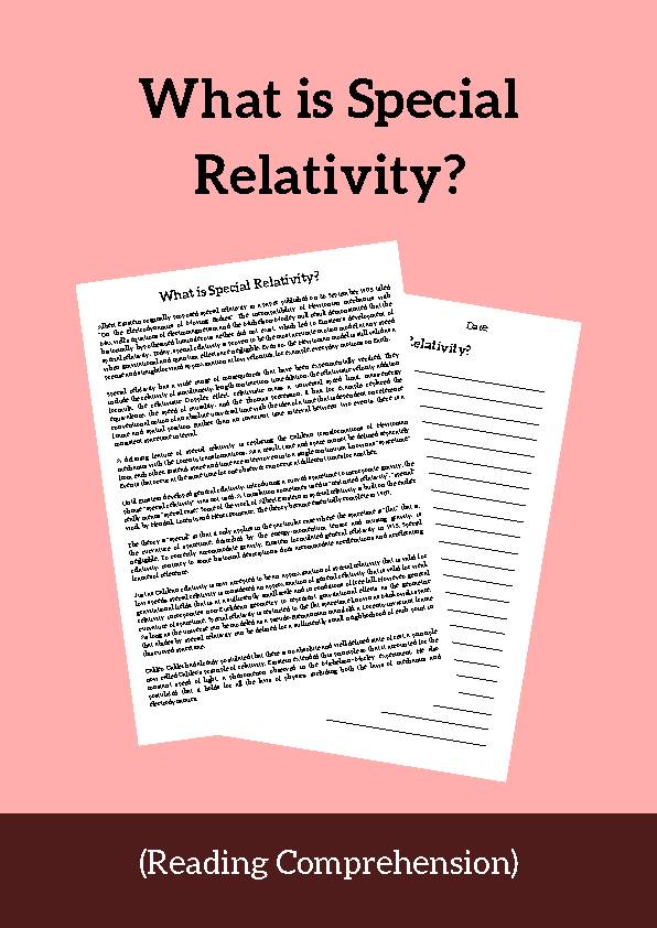 Special Relativity, Reading Passage