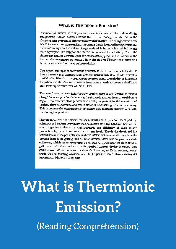 Thermionic Emission, Reading Passage