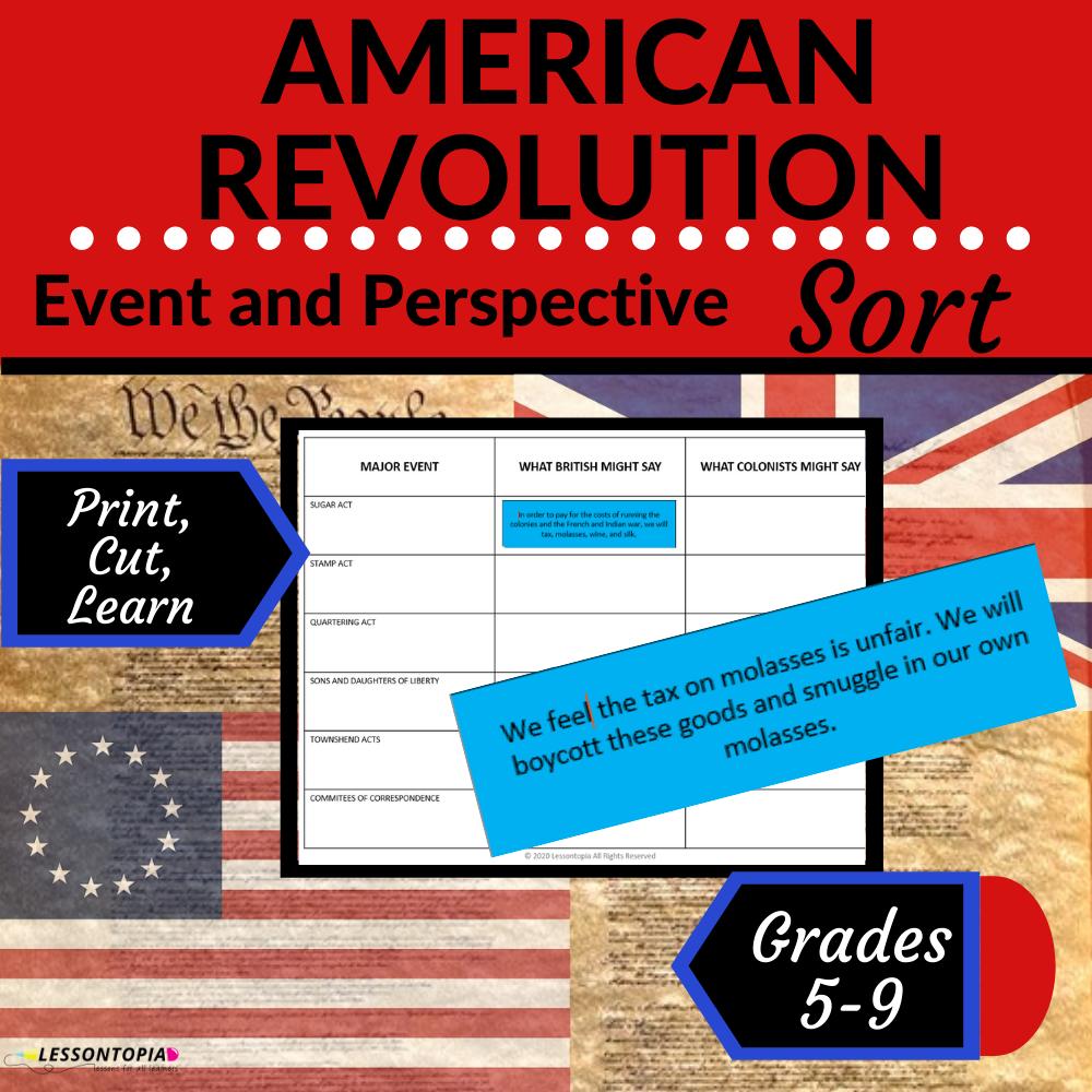 American Revolution Sort