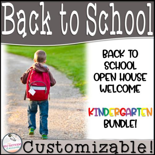 Back to School Kindergarten Parent Information Packet