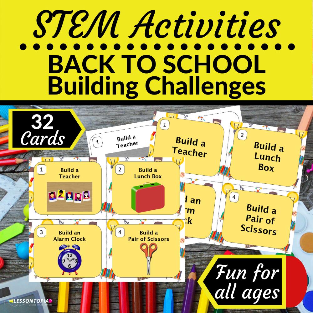 STEM Activities | Back to School Building Challenges