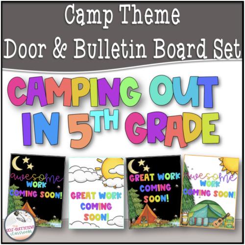 Camp Theme Bulletin Board & Door Set
