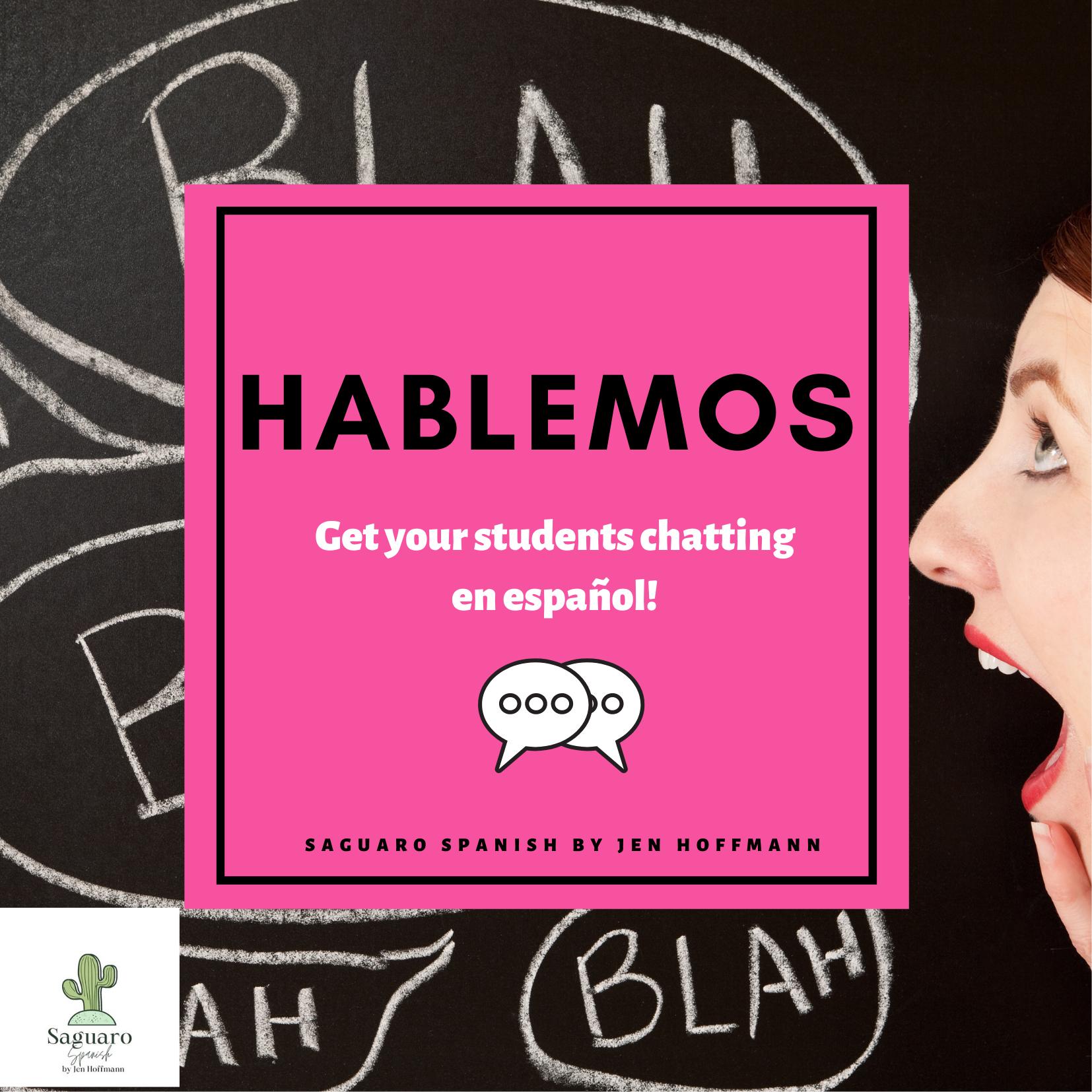 No Prep, Editable Spanish Speaking Activity: Hablemos