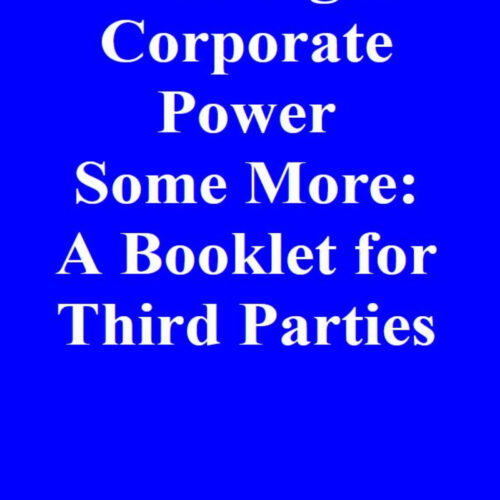 Let's Fight Corporate Power Some More: A Booklet for Third Parties