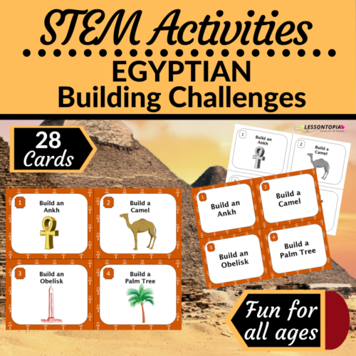 STEM Activities   Egypt   Egyptian Building Challenges