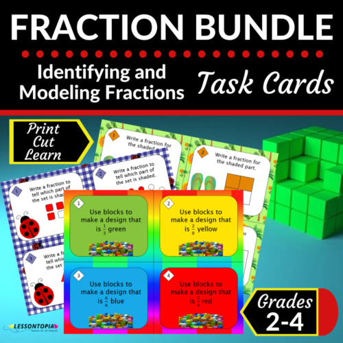 Fraction Bundle   Identifying and Modeling Fractions