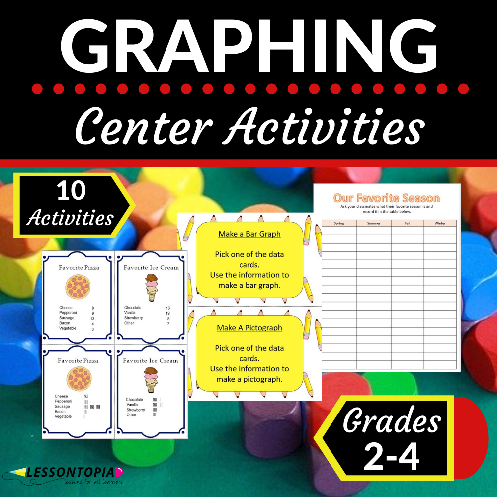 Graphing Center Activities   Bar Graphs and Pictographs