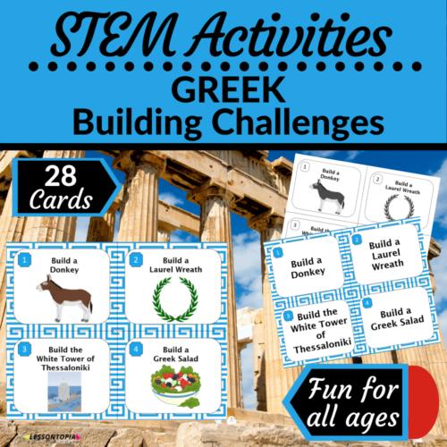 STEM Activities   Greece   Greek Building Challenges