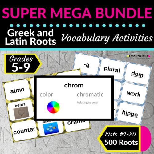 SUPER MEGA Bundle   Greek and Latin Roots   Vocabulary Activities