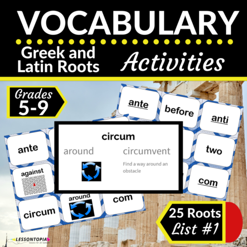 Greek and Latin Roots Activities | Vocabulary List #1
