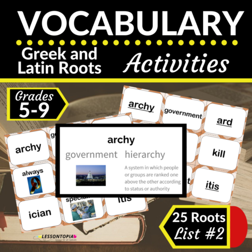 Greek and Latin Roots Activities | Vocabulary List #2