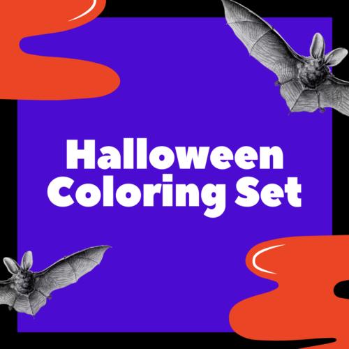 Halloween Coloring Set