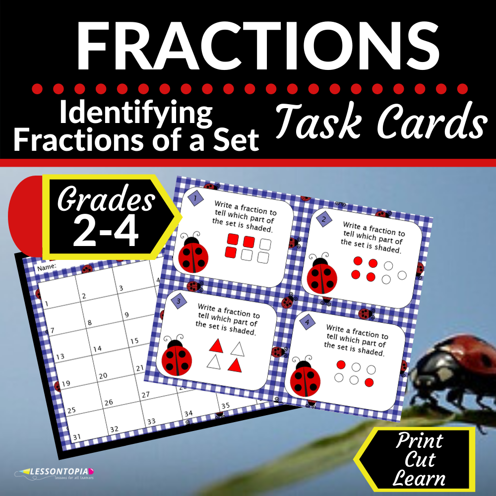 Fractions | Identifying Fractions of a Set