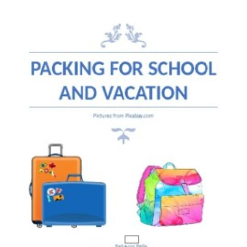Packing for School & Vacation (Cut and Paste) Activity