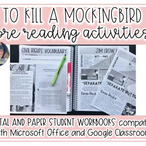 To Kill a Mockingbird Pre Reading Unit