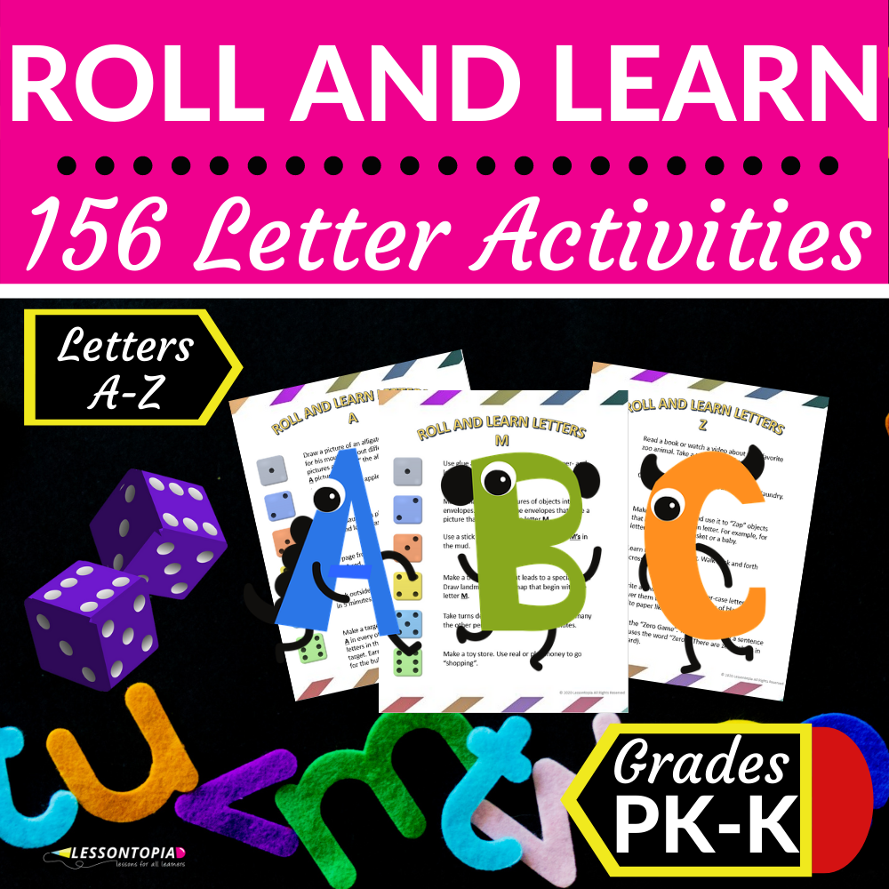 Roll and Learn Letter Activities A-Z