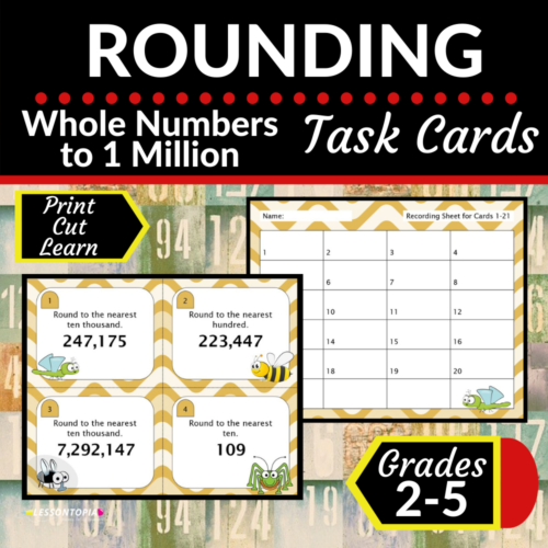Rounding Whole Numbers | Task Cards