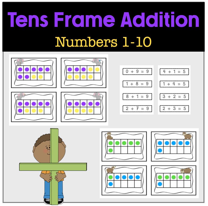 Addition Tens Frame Match 1-10